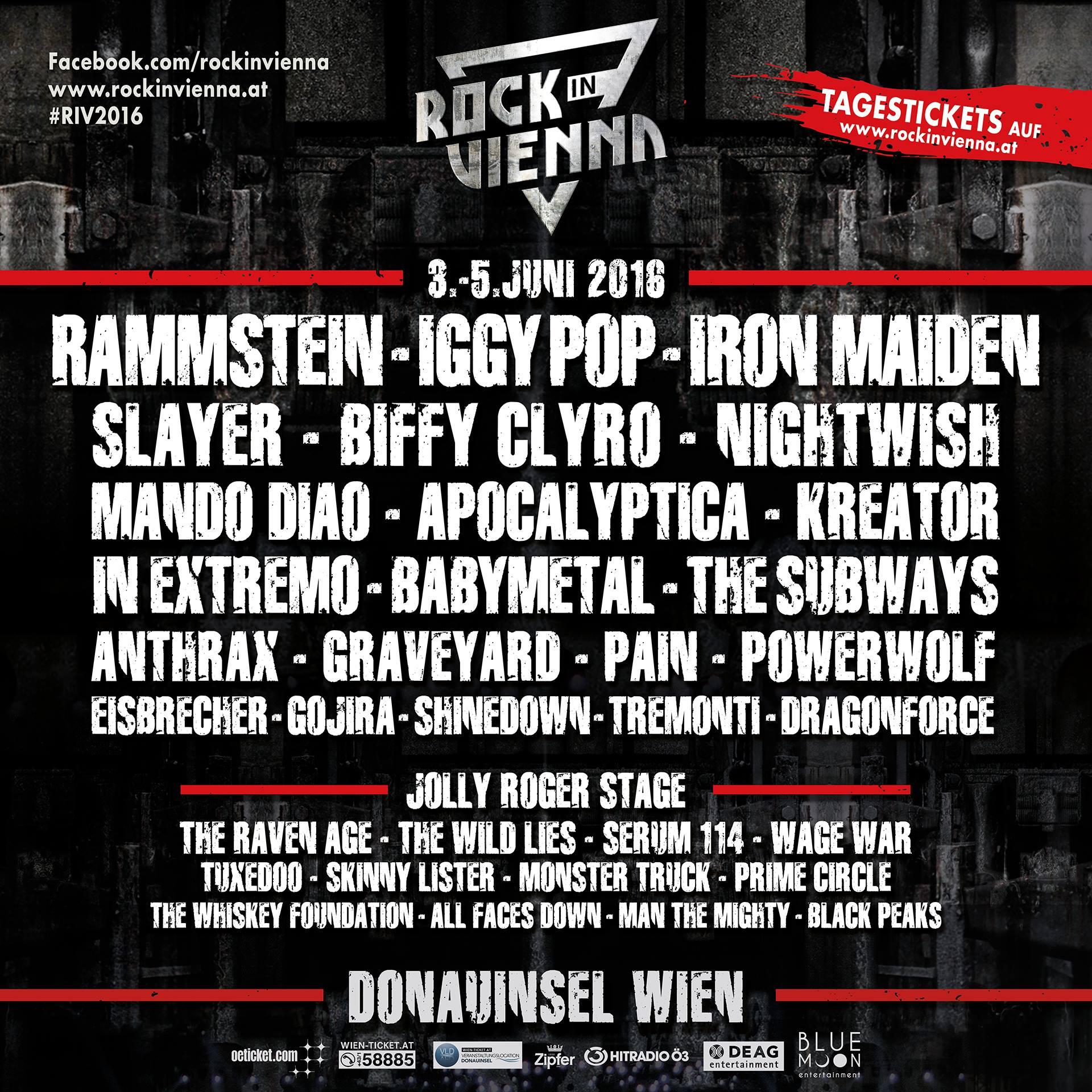 Rock in Vienna geht in die zweite Runde – Österreich lässt es im Juni so richtig krachen!
