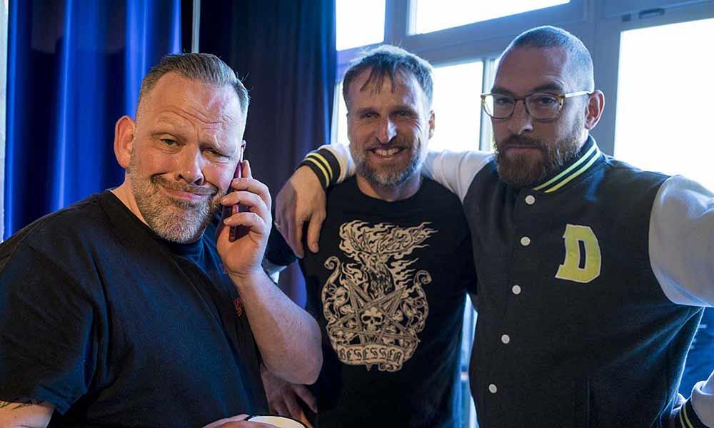 Die Drei vom Tattoo-Treff: Andy, Stefan und Moritz