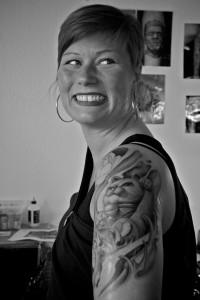 Eine von Sven Gnidas glücklichen Kundinnen (Foto: Angry Norman)