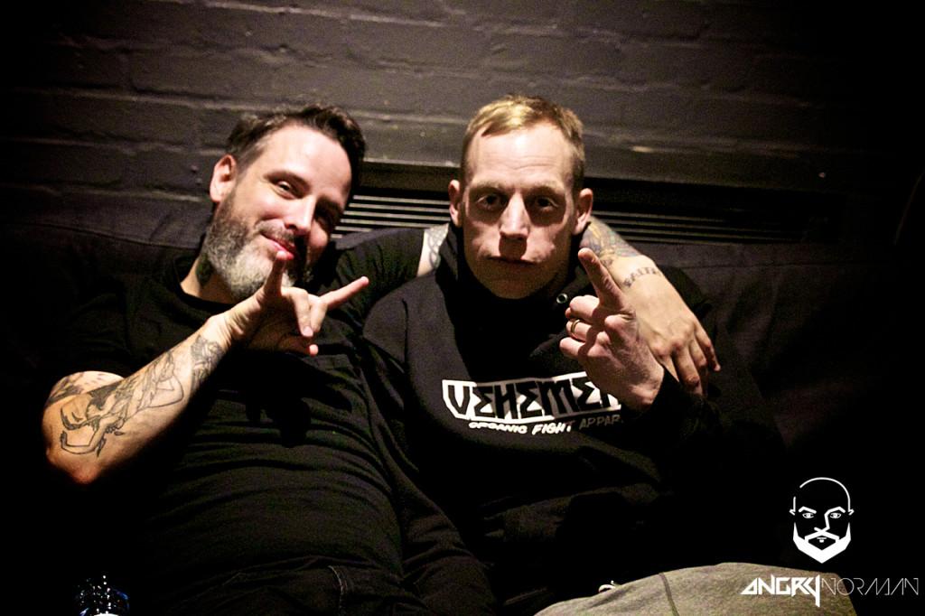 Nathan (li.) und Robert von Boysetsfire (Foto by AngryNorman)