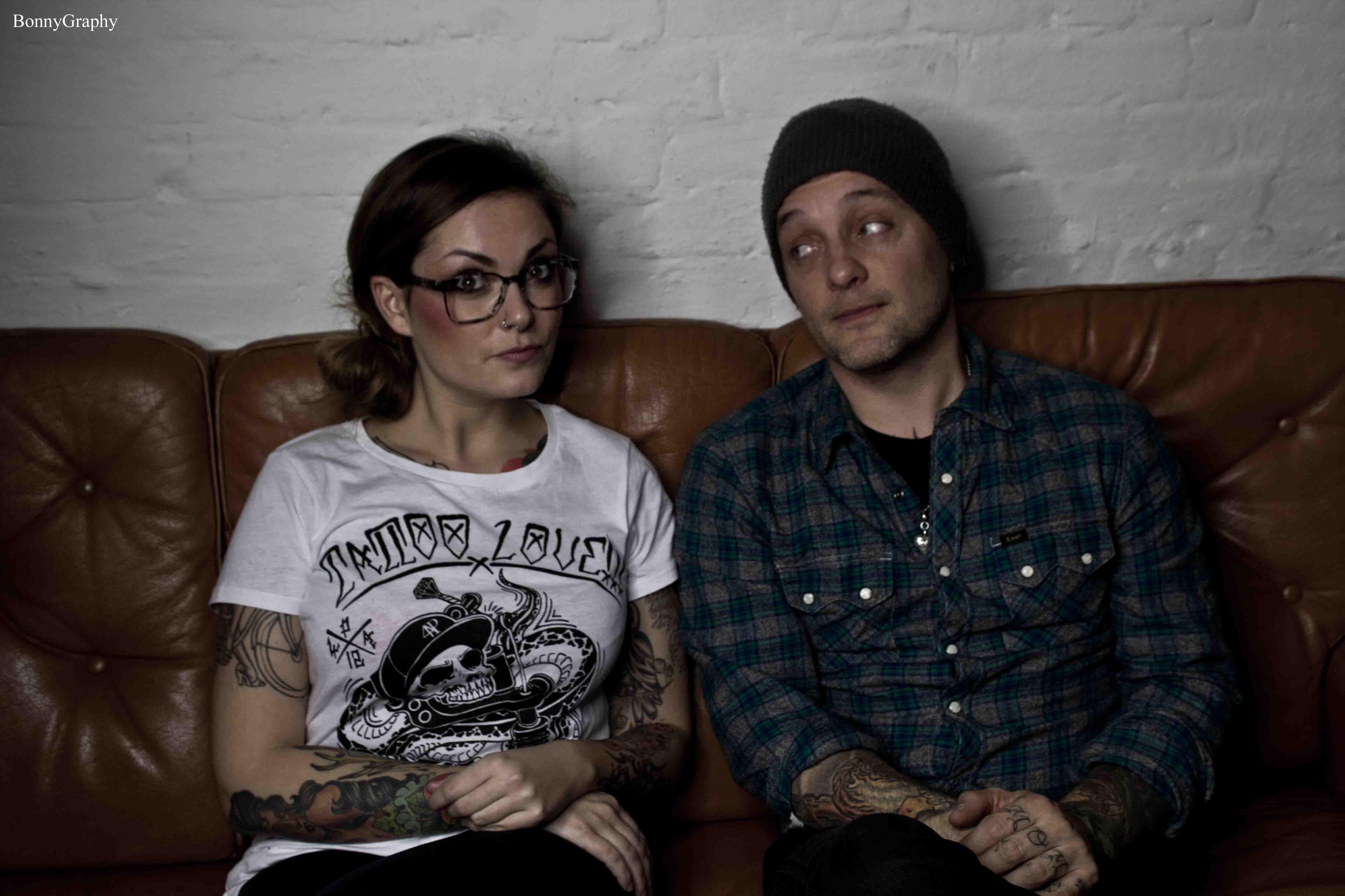 Vicky (li.) mit Dave Hause (Foto by BonnyGraphy)