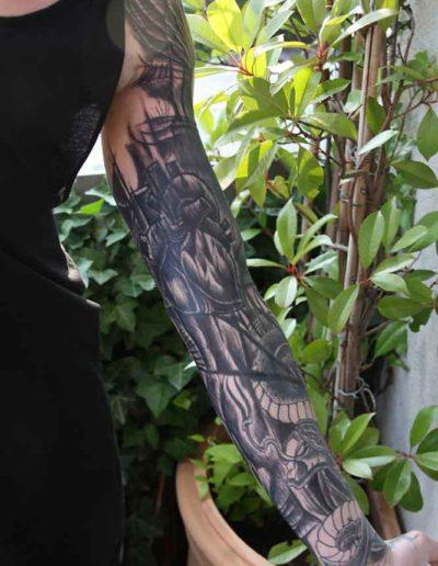 Arbeit von Elvis Tattoo Hamburg (Foto: van den Bussche)
