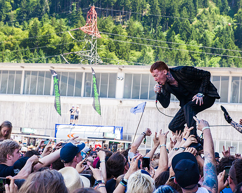 Frank Carter & The Rattlesnakes auf dem Greenfield Festival 2017 (Foto: Angry Norman - Concert Photography)