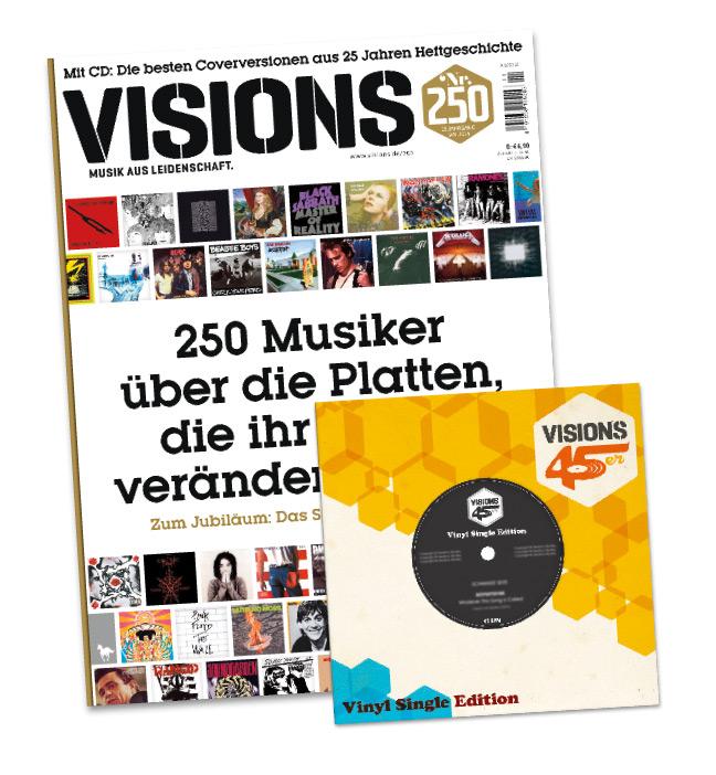 VISIONS-Jubiläumsausgabe plus limitierte Vinyl-Beilage